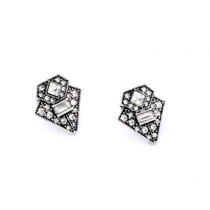 Women's Trendy Alloy Retro Triangle..