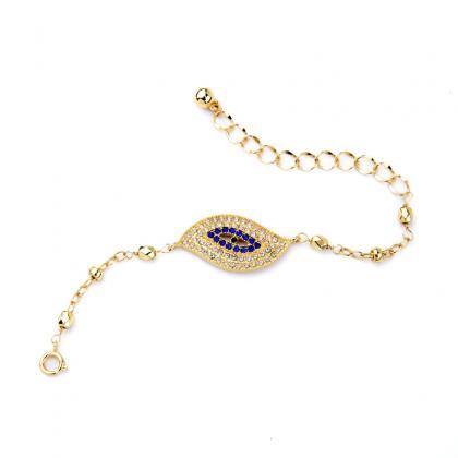 Set Crystal Eye Gold Plated One Dir..