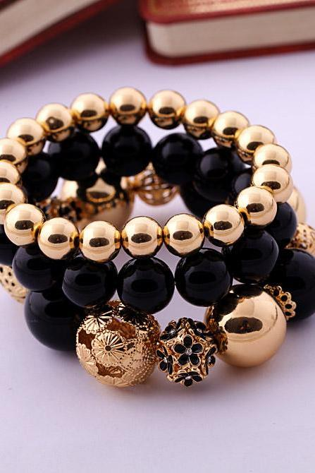Fashion Accessories women's Beaded Elastic Bracelet SZ002