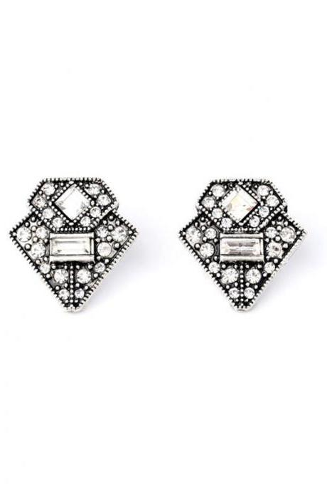 Women's Trendy Alloy Retro Triangle Ear Studs Top Seller Brand Designer Stud Earrings EH008