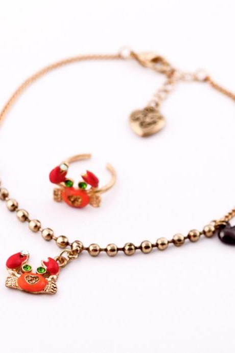 Accessories overlooks small crabs girls anklets foot JL001