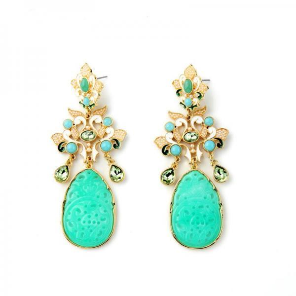 Amazing Party Chandelier Fashion Ear Jewelry Brand Designer Maxi Dangle Earrings EH004