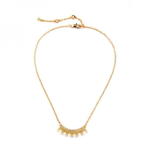Alloy Fashion Modern Women Concise Gold Plated Imitation Pearls Pendant Necklace NL061